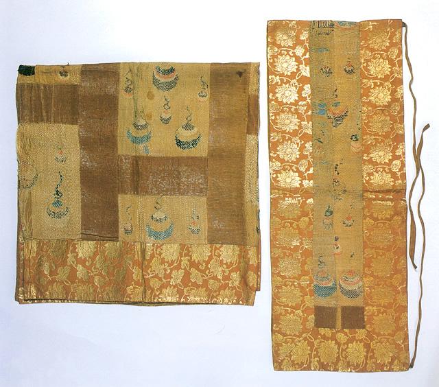 宝珠文刺衲袈裟並に横被 一領